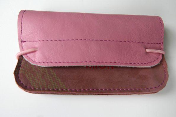 Miontas portemonnee in roze leer