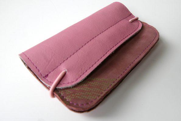 Miontas portemonnee roze leer