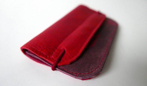 Rode leren portemonnees