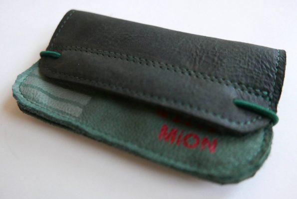Miontas groene leren portemonnee