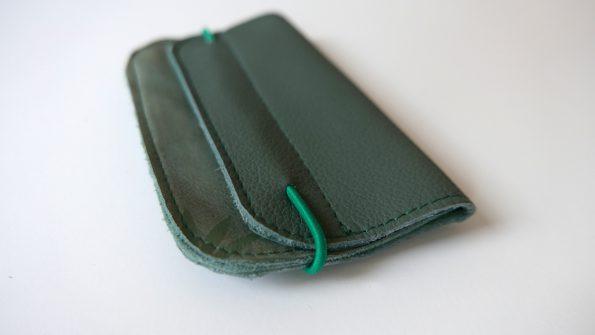 Miontas groen leer met groene print