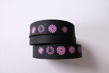 Miontas leren armband met roze-4