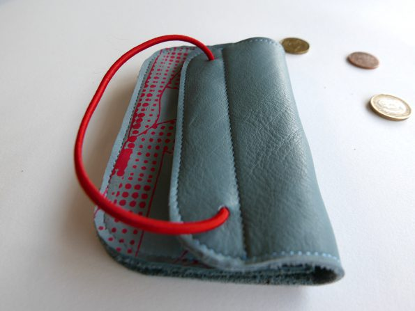 Portemonnee Miontas in blauw en rood